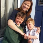 Kinnegar mum Clea Driscoll with sons Bobby (7) and Tom (5) . The noise used to waken the boys when they were younger.